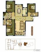 奥北公元4室2厅2卫155平方米户型图