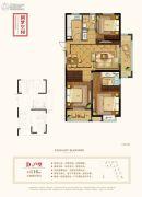 中铁・九逸3室2厅2卫116平方米户型图