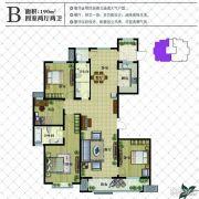 现代颐和苑4室2厅2卫190平方米户型图