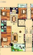 鸿泰华府3室2厅2卫137平方米户型图