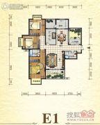 元森北新时代3室2厅2卫157平方米户型图