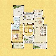 正商红河谷2室2厅2卫98平方米户型图