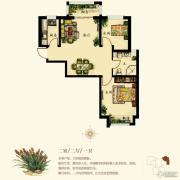同祥城2室2厅1卫87平方米户型图