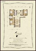 金麦加汇君城3室2厅2卫136平方米户型图