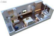 康桥溪公馆1室1厅1卫43平方米户型图