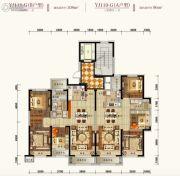 碧桂园凤凰城3室2厅1卫98平方米户型图