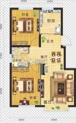金地・红大蓝湾2室2厅1卫75平方米户型图