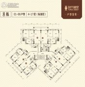 时代糖果3室2厅2卫76--113平方米户型图