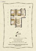 金麦加汇君城3室2厅1卫112平方米户型图