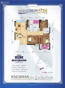 天纵半岛蓝湾3室2厅2卫101平方米户型图