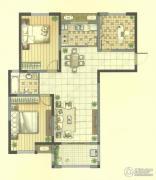 九洲花园缇香郡3室2厅1卫105平方米户型图