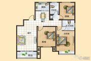 富景国际3室2厅2卫130平方米户型图
