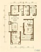 东方太阳城2室1厅1卫114平方米户型图