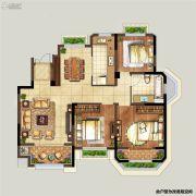 弘阳上湖3室2厅1卫103平方米户型图