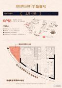 洱海国际生态城1室1厅1卫57平方米户型图