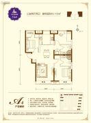 鸿坤・原乡溪谷3室2厅2卫106平方米户型图
