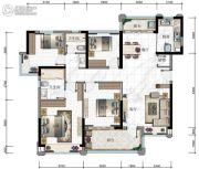 华发・又一城3期4室2厅2卫132平方米户型图