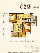 兴业新城3室2厅1卫102--107平方米户型图