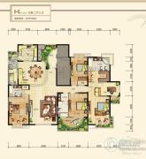 九锦台5室2厅3卫279平方米户型图