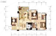 越亚天赐良园3室2厅2卫93平方米户型图