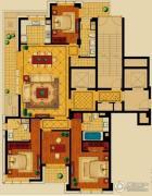 新华园4室2厅3卫196平方米户型图