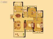中南世纪花城3室2厅2卫128平方米户型图
