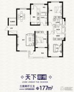 复地东湖国际3室2厅3卫177平方米户型图