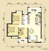 清河庄园3室2厅1卫115平方米户型图