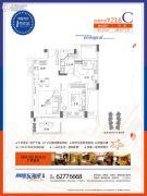 碧桂园东海岸2室2厅1卫80平方米户型图