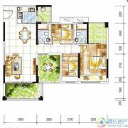 金碧丽江西海岸3室2厅2卫100平方米户型图