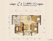 瀚海・御水兰庭3室2厅1卫105平方米户型图