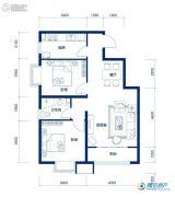海岸国际2室2厅1卫86平方米户型图