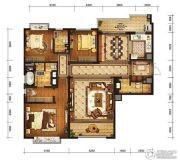 金融街融御3室2厅3卫163平方米户型图