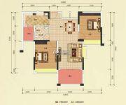 恒凯雅苑2室2厅1卫83平方米户型图