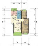 康锦馨苑3室2厅1卫100--150平方米户型图