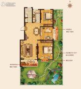 城建・锦绣城3室2厅1卫121--126平方米户型图