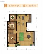 融创天朗南长安街壹号5室4厅2卫142平方米户型图