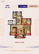 沈阳旭辉御府3室2厅2卫110平方米户型图