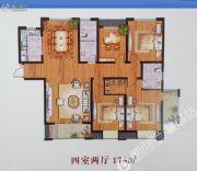 汝河外滩4室2厅2卫178平方米户型图