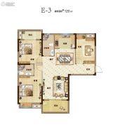 汇悦天地3室2厅2卫120平方米户型图