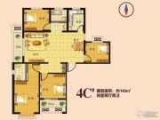 瑞隆城三期麒麟山4室2厅2卫143平方米户型图