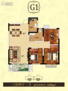 泰和兴龙湾3室2厅1卫0平方米户型图