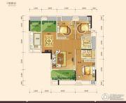 骋望剑桥郡3室2厅2卫123平方米户型图