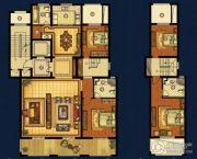 海星御和园4室2厅3卫233平方米户型图