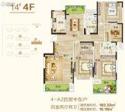 御翠园4室2厅2卫183平方米户型图