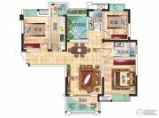 兴润・秋语台3室2厅2卫114平方米户型图