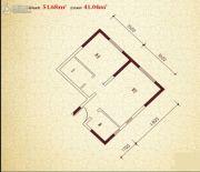 珠江新城1室1厅1卫51平方米户型图