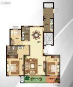 华明星海湾3室2厅2卫147平方米户型图