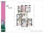 艺墅家4室3厅2卫143平方米户型图