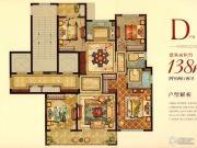 宏地・温州望府4室2厅2卫138平方米户型图